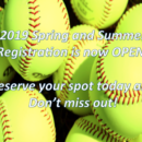2019 Softball Registration is now open!