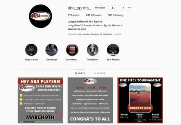 Follow us on Instagram @ABA_Sports_